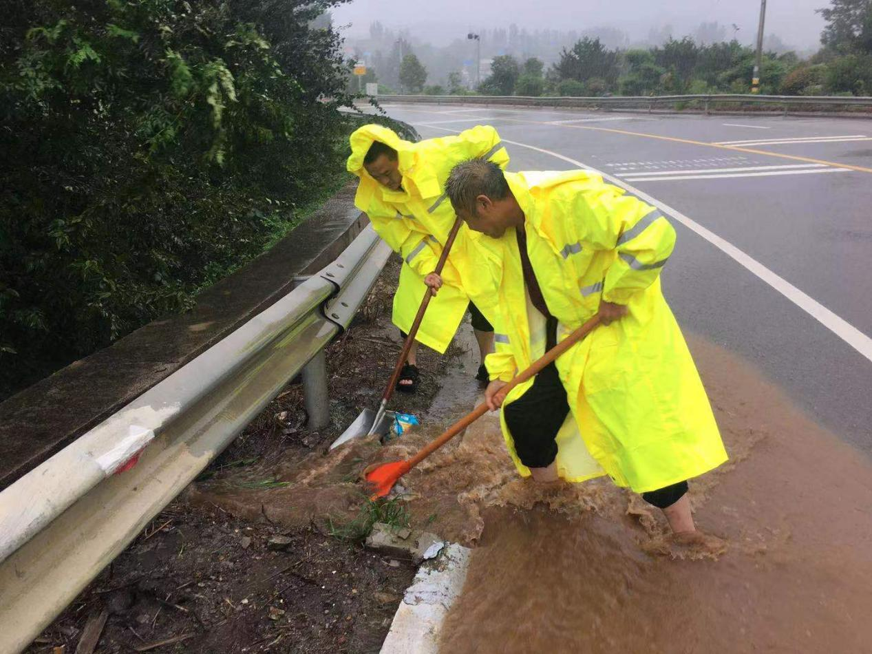 抗台风、保畅通,费县公路中心24小时不间断作战